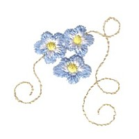 forget me not forget-me-not flower floral group machine embroidery design swirl swirly trail tail swirls needle passion embroidery needlepassion npe bernina artista art pes hus jef dst designs