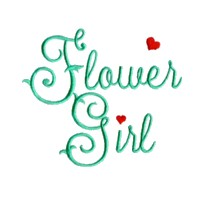 flower girl script lettering machine embroidery design love wedding heart party art pes hus dst needle passion embroidery npe