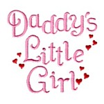 daddy's little girl with hearts lettering machine embroidery design girl girls rule girly confetti lettering text slogan art pes hus dst needle passion embroidery npe