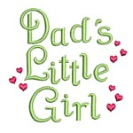 dad's little gilr whimsical lettering machine embroidery design girl girls rule diva girly queen crown confetti lettering text slogan art pes hus dst needle passion embroidery npe