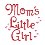 mom's little girl whimsical lettering machine embroidery design girl girls rule diva girly queen crown confetti lettering text slogan art pes hus dst needle passion embroidery npe