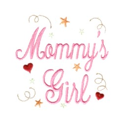 Mommys Girl Lettering With Stars Hearts And Swirls