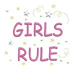girls rule lettering machine embroidery design girl girls rule diva girly queen crown confetti lettering text slogan art pes hus dst needle passion embroidery npe