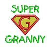 machine embroidery super granny slogan superhero super hero superman sign logo emblem stitchery machine embroidery design needle passion embroidery needlepassion npe bernina artista art pes hus jef dst designs free sample design with embroidery pack