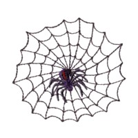 machine embroidery design cobweb cob web spider net taratula halloween art pes hus jef dst exp needle passion embroidery npe needlepassion