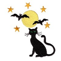 machine embroidery design spooky night scene cat moon stars bats halloween art pes hus jef dst exp needle passion embroidery npe needlepassion