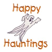 machine embroidery design happy hauntings lettering with ghost halloween art pes hus jef dst exp needle passion embroidery