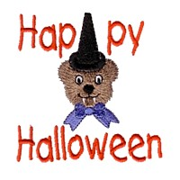 machine embroidery design sscary teddy dracula teeth happy halloween lettering art pes hus jef dst exp needle passion embroidery npe needlepassion
