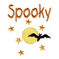 machine embroidery design spooky lettering with moon stars and bat halloween art pes hus jef dst exp needle passion embroidery npe needlepassion