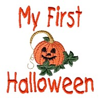 machine embroidery design my first halloween lettering pumpkin with friendly face art pes hus jef dst exp needle passion embroidery npe needlepassion
