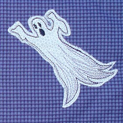 ghost ghoul applique spooky machine embroidery design