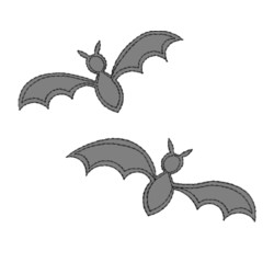 bats applique machine embroidery design