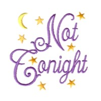 not tonight pillow case machine embroidery design his hers couple wedding embroidery for monogram monogramming art pes hus dst needle passion embroidery npe