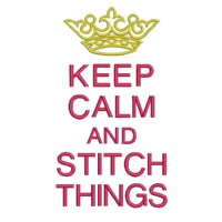 keep calm and stitch things lettering british war time poster machine embroidery design