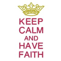 keep calm and have faith lettering british war time poster machine embroidery design
