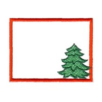 pine tree frame machine embroidery border embroidery art pes hus dst needle passion embroidery npe