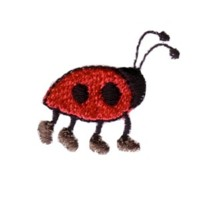 ladybug with shoes machine embroidery design ladybird insect art pes hus dst needle passion embroidery npe