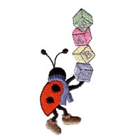 machine embroidery design ladybug ladybird building blocks toy insect animal winter snow fun art pes hus dst needle passion embroidery npe