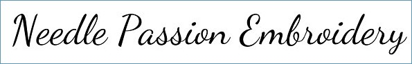 Needle Passion Embroidery web site head banner logo