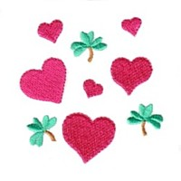hearts and shamrock love heart valentine machine embroidery design darling by needle passion embroidery