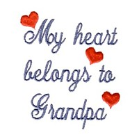 my heart belongs to grandpa machine embroidery grandparent embroidery art pes hus dst needle passion embroidery npe