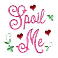 spoil me lettring with hearts love heart valentine machine embroidery design darling by needle passion embroidery