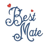 best mate script lettering machine embroidery design wedding heart party art pes hus dst needle passion embroidery npe