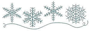 snowflakes border row line machine embroidery designs sample