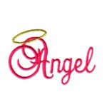 angel script lettering text with halo machine embroidery design baby toys kids children art pes hus dst