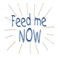 feed me now baby attitude machine embroidery design needle passion embroidery npe