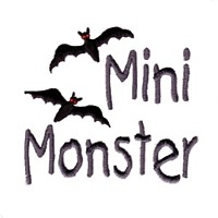 machine embroidery design mini monster lettering with bats halloween art pes hus jef dst exp needle passion embroidery npe needlepassion