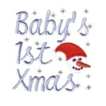 baby's first xmas christmas lettering with snowman and snowing machine embroidery design baby toys kids children art pes hus dst