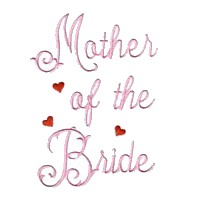 mother of the bride machine embroidery design love wedding heart party relative parent art pes hus dst needle passion embroidery npe