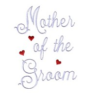 mother of the groom script lettering machine embroidery design love wedding heart party relative parent art pes hus dst needle passion embroidery npe