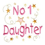 no 1 daughter machine embroidery design mom and dad mum needle passion embroidery npe