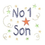 no 1 son lettering machine embroidery design mom and dad mum needle passion embroidery npe