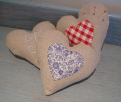hearts pin cushions padded heart made in the machine embroidery hoop lavender filled linen heart needle passion embroidery npe