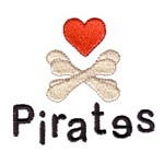 Heart scull and bones with childsh pirates lettering machine embroidery design from http://www.needlepassionembroidery.com