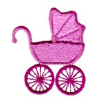 Pram machine embroidery design from http://www.needlepassionembroidery.com