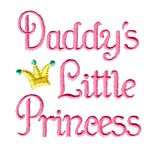 daddy's little princess lettering machine embroidery design girl girls rule diva girly queen crown confetti lettering text slogan art pes hus dst needle passion embroidery npe