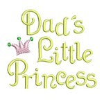 dad's little princess whimsical lettering machine embroidery design girl girls rule diva girly queen crown confetti lettering text slogan art pes hus dst needle passion embroidery npe