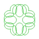 circles quilting in the embroidery hoop machine embroidery quilt pattern design