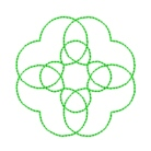 circles quilting in the embroidery hoop machine embroidery quilt design