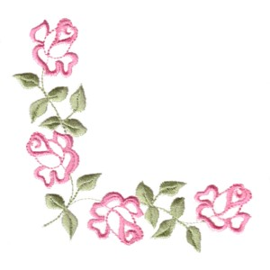 Adorable roses machine embroidery designs rose machine embroidery design flower botanical plant roses art pes hus dst corner scroll altavistaventures Images