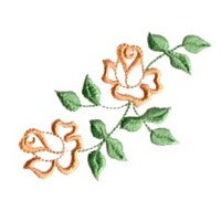double rose machine embroidery design flower botanical plant roses art pes hus dst