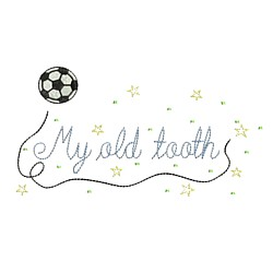 soccer fan's toothfairy design football my old tooth machine embroidery design art hus pes