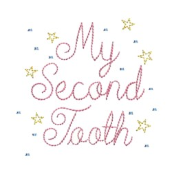 my second tooth fairy embroidery machine embroidery design needle passion embroidery npe