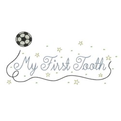 my first tooh soccer tooth fairy embroidery machine embroidery design needle passion embroidery npe