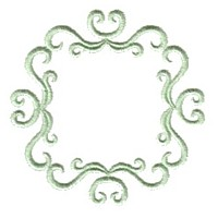 frame machine embroidery victorian scroll frame border design