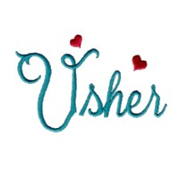 usher script lettering machine embroidery design love wedding heart party art pes hus dst needle passion embroidery npe